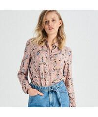28e1adb56561 Sinsay - Vzorovaná košeľa - Ružová