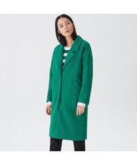 House - Hladký oversize kabát - Zelená 48c6921d513