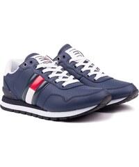Tommy Hilfiger modré pánské kožené tenisky Lifestyle Tommy Jeans Sneaker  Ink - 43 c95ab7edc48