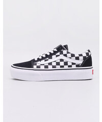 Vans Old Skool Platform (Checkerboard) Black  True White f27d57084a