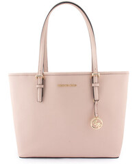 Michael Kors Jet Set Travel Saffiano Leather MD Carryall Tote Kabelka růžová d9a2c0650d