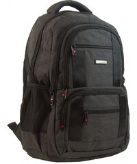 New Berry New Berry Elegantní polstrovaný školní batoh L18106 tmavě hnědý 14366c4907
