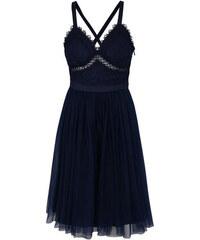 Chi Chi London tmavě modré šaty Sasha S 7a5fd14111