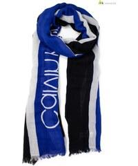 Calvin Klein férfi fekete fehér kék csíkos sál  WH7-STRIKE THROUGH SCARF GIFTPACK 9 29a1addbc6
