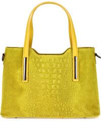 Diva Természetes bőr Mustársárga Táska cod. M8972-Yellow - Glami.hu 26ec74fa78