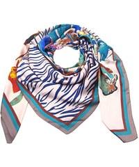 Růžový čtvercový velký šátek s potiskem květin 50e27c3f01