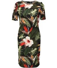 ... semišové úpravě Izzy 41. V 6 velikostech. Detail produktu · Dorothy  Perkins zeleno-černé vzorované pouzdrové šaty S 419465d27d