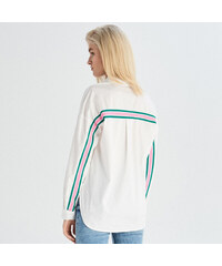 b375ec8aa75f Sinsay - Košeľa s ozdobným pruhom - Biela