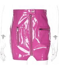 a7ba89feaaf NATTEMAID Miny sukně z PU kůže v originálním provedení se zipem a kapsami