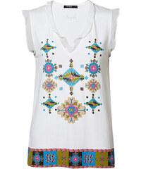 4817d18771a1 Desigual Dámske tričko TS Martine Blanco 19SWTK76 1000