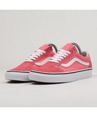 Černo-růžové dámské tenisky s koženými detaily Vans Old Skool - Glami.cz 1f4f3e3c55f