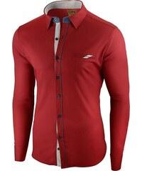 a5dcd39803e0 Seraph Červená prémiová pánska košeľa s dlhým rukávom
