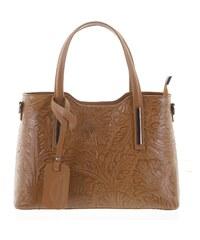 Originálna dámska kožená kabelka svetlohnedá - ItalY Zaira hnedá 66ce4d06bb6