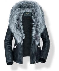 ELEGANCE Čierna zateplená bunda LEDE 2XL f37a1724a67