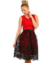 Glara Dámské společenské šaty s krajkovou sukní b5519596b1