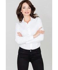 8d88552860a8 Katrus Dámske biele elegantné košeľové body K240