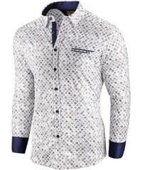 371409ddbaf Seraphstore.com Vzorovaná bílá pánská košile Soirée d automne