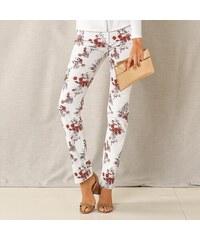 9f792f0290d Blancheporte Kalhoty s potiskem květin bílá terakota