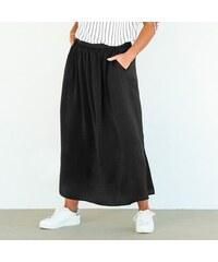 f0d2f02c0843 VENCA Dlhá sukňa s rázporkom čierna 3XL - Glami.sk