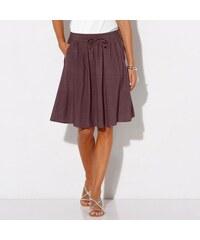 Blancheporte Jednobarevná vzdušná sukně ledová kaštanová b915d33c48
