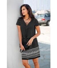 Blancheporte Šaty so šnurovaním čierna biela b53ac1dd815