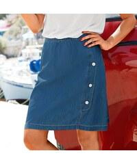Blancheporte Džínová rozšířená sukně sepraná modrá 4d1ef18519