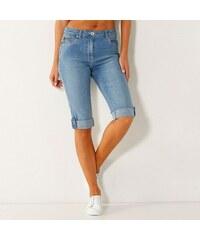 Blancheporte Korzárské kalhoty s push-up efektem sepraná modrá 3e395ff055