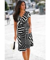71f11cba1fa Blancheporte Krátké šaty s pruhy proužek černá bílá