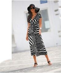 Blancheporte Dlouhé šaty s pruhy proužek černá bílá 34cf7df97b