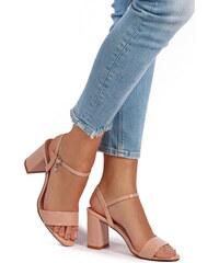 XTI Svetloružové sandále 32033 e0fa74e3000