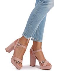 XTI Světle růžové sandály 32055 e9e36610c7