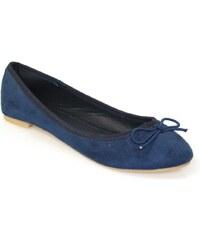 Vypredaj-zlavy.sk Balerínky v semišovom vzhľade modrá be16849c915