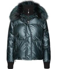 TOMMY HILFIGER Zimní bunda  Fran puffer bomber  petrolejová 9127c3d5117