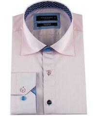 e715a3c4233e MAKROM London Bledoružová pánska košeľa s kontrastnými gombíkmi