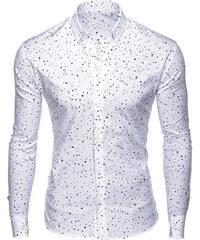 Ombre Clothing Pánská puntíkovaná košile Moog bílá. 599 Kč 4f3f082c16