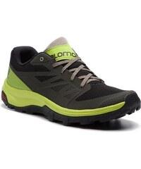 Trekingová obuv SALOMON - Outline 406189 27 M0 Beluga Lime Green Vintage  Kaki f34ad755250