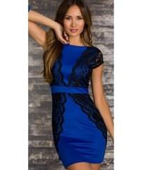 Dámské plesové šaty Lugano modré - modrá