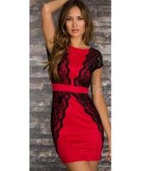 Dámské plesové šaty Lugano červené - červená