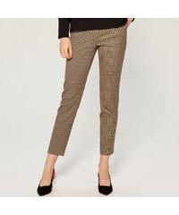 700edee40e5 Mohito - Kostkované kalhoty cigaretového střihu - Béžová