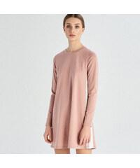 59a3522304 Sinsay - Priliehavé šaty s pásikmi - Ružová - Glami.sk