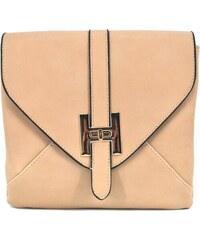 Krémová kožená crossbody kabelka na řetízku Pieces Blossom - Glami.cz e13f4da82f0