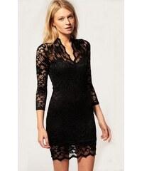 Dámské krajkové Šaty Černé V - černá