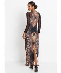571f30a08842 Maxi šaty s dlouhým rukávem