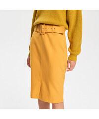 28a4f9caab2 Reserved - Pouzdrová sukně - Žlutá