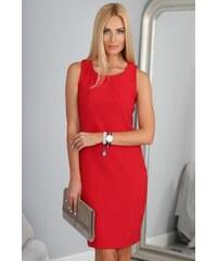 FASARDI Priliehavé červené šaty  Červená M 78517c11692