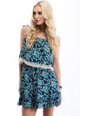 27bbbaa14cc1 Modré Šaty s čipkou