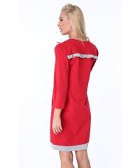 FASARDI Dámske šaty s korálikmi a malými dekoratívnymi volánmi 75691dcfec7