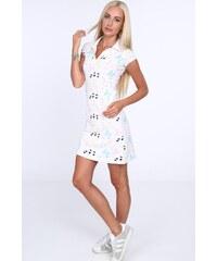 FASARDI Krémové dámske šaty s potlačou motýľov  XL 0c66a5859aa