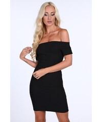 ab93757d6eb7 FASARDI Dámske čierne šaty s odhalenými ramenami  S