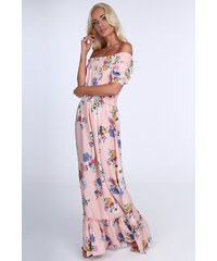 FASARDI Dámske kvetinové šaty s odhalenými ramenami c712454579b